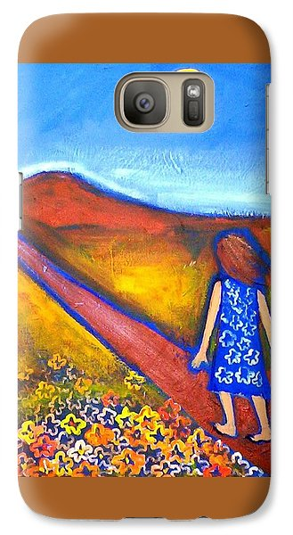 Galaxy S7 Case featuring the painting A Sunny Path by Winsome Gunning