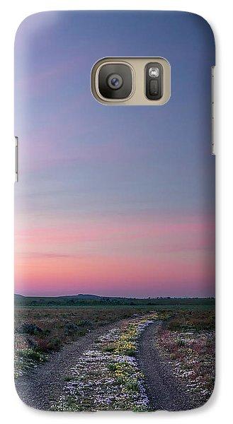 Galaxy Case featuring the photograph A Sunrise Path by Leland D Howard