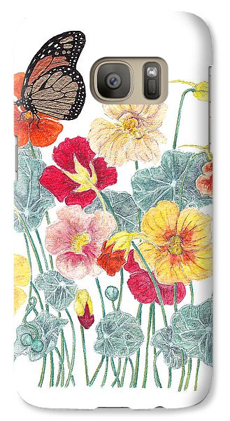 Galaxy Case featuring the painting A Tethered Butterfly by Stanza Widen