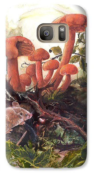 Galaxy Case featuring the painting A Thorny Situation by Sherry Shipley