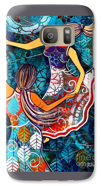 Galaxy Case featuring the painting A Time To Dance by Julie Hoyle