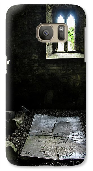Galaxy Case featuring the photograph A Tombstone In Sligo Abbey by RicardMN Photography