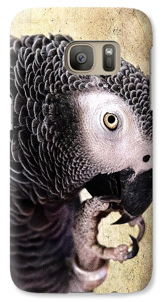 Galaxy Case featuring the photograph A Touch Of Grey by Betty LaRue