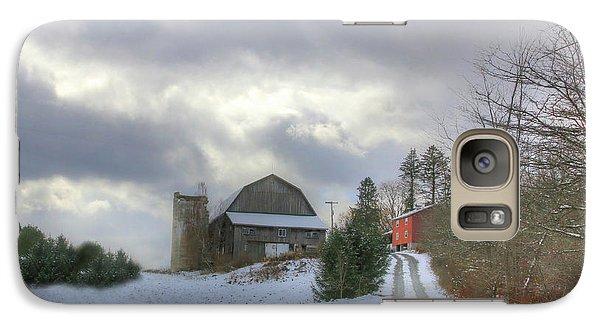 Galaxy Case featuring the photograph A Touch Of Snow by Sharon Batdorf