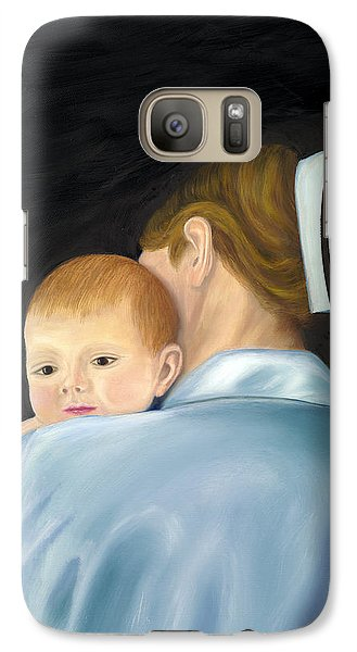 Galaxy Case featuring the painting Comforting A Tradition Of Nursing by Marlyn Boyd