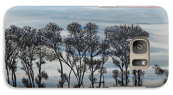 Galaxy Case featuring the painting A Treeline Silhouette by Marilyn  McNish