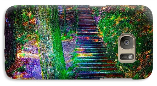 Galaxy Case featuring the photograph A Trek by Iowan Stone-Flowers