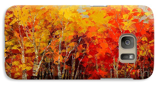 Galaxy Case featuring the painting Turning Leaf by Tatiana Iliina