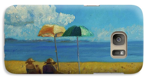Galaxy Case featuring the painting A Vacant Lot - Byron Bay by Paul McKey
