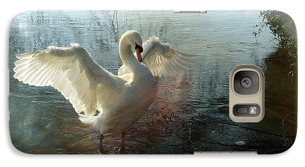 Galaxy Case featuring the photograph A Very Fine Swan Indeed by LemonArt Photography
