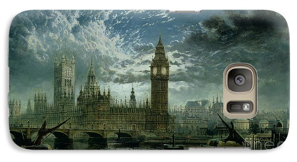 A View Of Westminster Abbey And The Houses Of Parliament Galaxy S7 Case by John MacVicar Anderson
