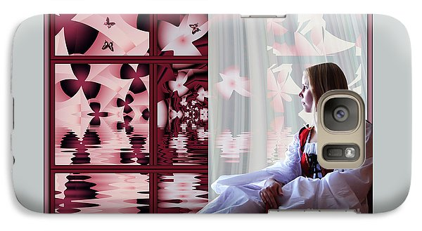 Galaxy Case featuring the digital art A View To The Water Garden by Michelle H