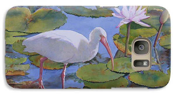 Galaxy Case featuring the painting A Walk In The Park by Judy Mercer