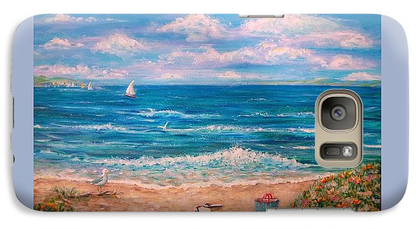 Galaxy Case featuring the painting A Walk In The Sand by Dee Davis