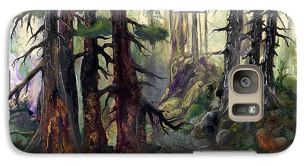 Galaxy Case featuring the painting A Walk In The Woods by Sherry Shipley