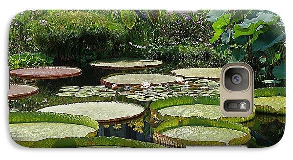 Galaxy Case featuring the photograph A Water Garden by Byron Varvarigos