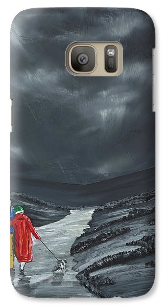 Galaxy Case featuring the painting A Wee Bijou Strollette by Scott Wilmot