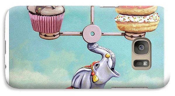 Galaxy Case featuring the painting A Well-balanced Diet by Linda Apple