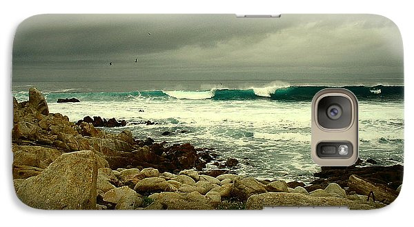 Galaxy Case featuring the photograph A Winter Day At The Beach by Joyce Dickens