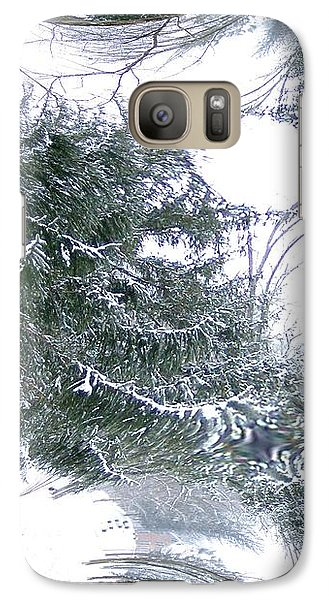 Galaxy Case featuring the photograph A Winter Fractal Land by Skyler Tipton