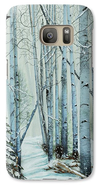 Galaxy Case featuring the painting A Winter's Tale by Stanza Widen