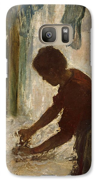 Galaxy Case featuring the painting A Woman Ironing by Edgar Degas