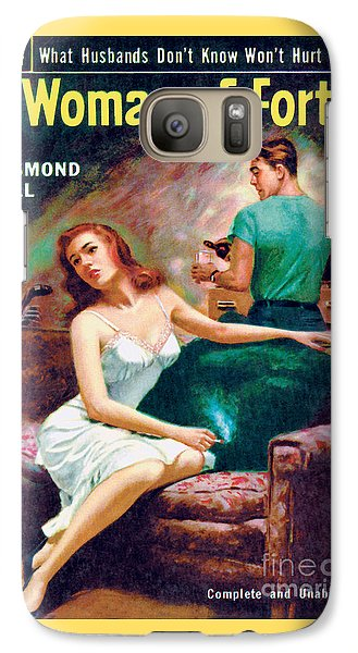 Galaxy Case featuring the painting A Woman Of Forty by Bernard Barton