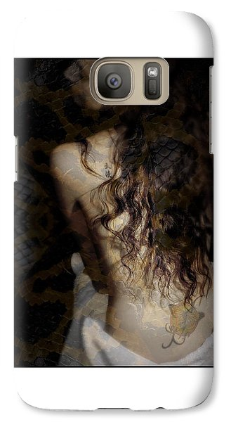 Galaxy Case featuring the photograph A Woman's Back With Long H by Michael Edwards