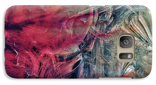 Galaxy Case featuring the digital art A World Beyond by Linda Sannuti