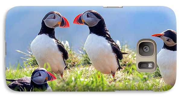 A World Of Puffins Galaxy S7 Case