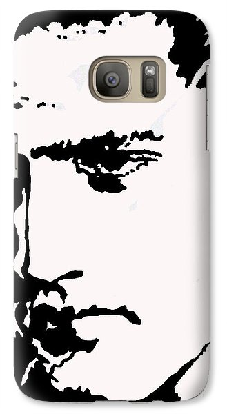 Galaxy Case featuring the drawing A Young Elvis by Robert Margetts