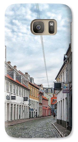 Galaxy Case featuring the photograph Aarhus Backstreet Scene by Antony McAulay