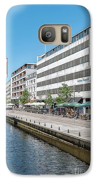 Galaxy Case featuring the photograph Aarhus Canal Scene by Antony McAulay