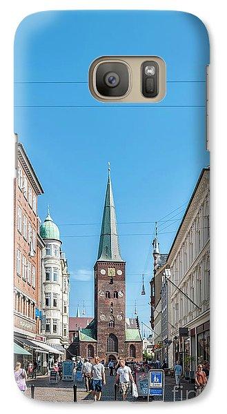 Galaxy Case featuring the photograph Aarhus Street Scene by Antony McAulay