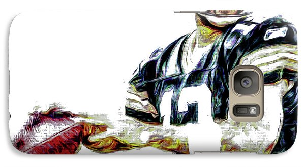 Galaxy Case featuring the photograph Aaron Rodgers Green Bay Packers Painted by David Haskett