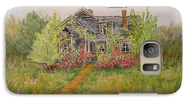 Galaxy Case featuring the painting Abandoned House by Quwatha Valentine
