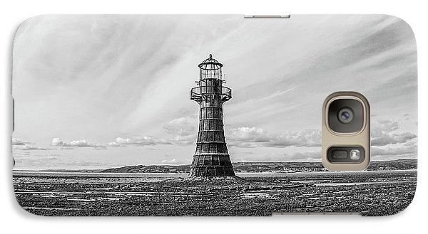 Galaxy Case featuring the photograph Abandoned Light House Whiteford by Edward Fielding