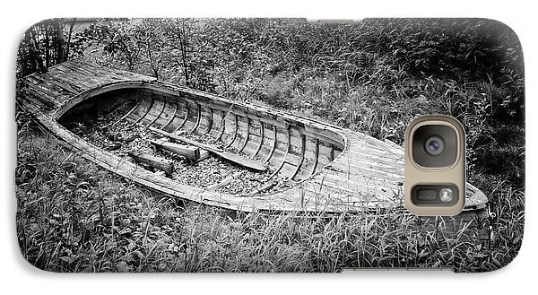 Galaxy Case featuring the photograph Abandoned Wooden Boat Alaska by Edward Fielding
