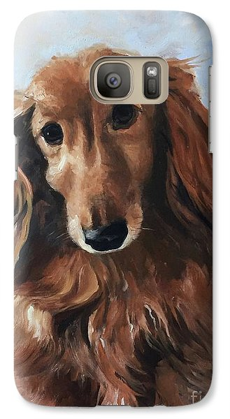 Galaxy Case featuring the painting Abby by Diane Daigle