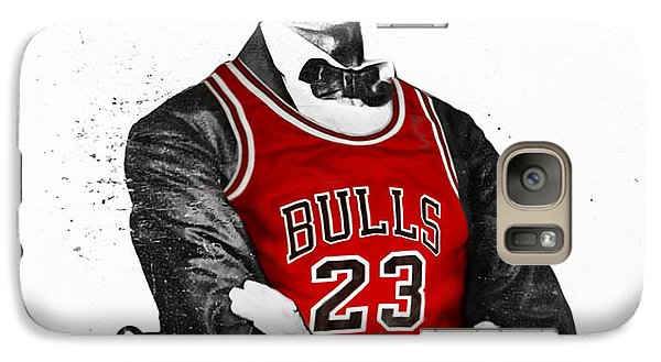 Abe Lincoln In A Bulls Jersey Galaxy Case by Roly Orihuela