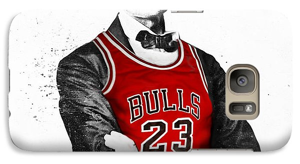 Abe Lincoln In A Michael Jordan Chicago Bulls Jersey Galaxy S7 Case
