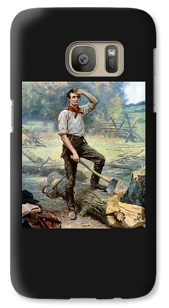 Abe Lincoln The Rail Splitter  Galaxy S7 Case by War Is Hell Store