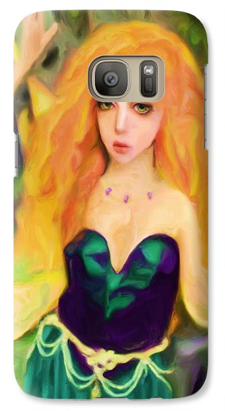 Galaxy Case featuring the painting Abella  by Shelley Bain