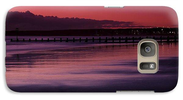 Galaxy Case featuring the photograph Aberdeen Beach After Sunset by Gabor Pozsgai