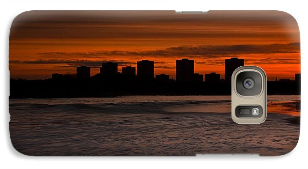Galaxy Case featuring the photograph Aberdeen By Sunset by Gabor Pozsgai
