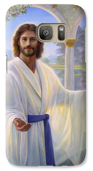 Religion Galaxy S7 Case - Abide With Me by Greg Olsen