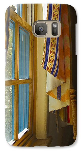 Galaxy Case featuring the photograph Abiquiu Window by R Thomas Berner