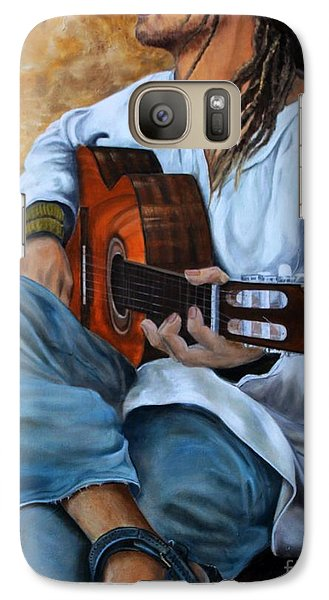 Galaxy Case featuring the painting About The Music 2 by Anna-maria Dickinson