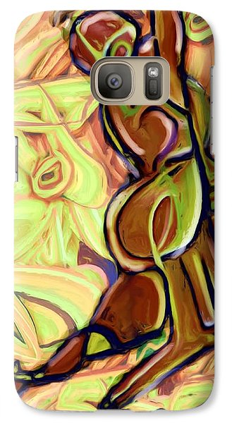 Galaxy Case featuring the painting Above It All by Shelley Bain