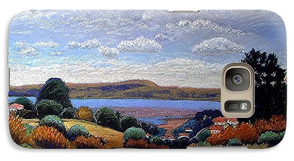 Galaxy Case featuring the painting Above San Mateo by Gary Coleman